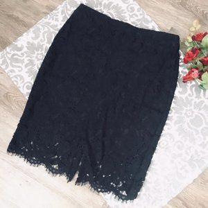 NWT Banana Republic Black Lace Skirt!